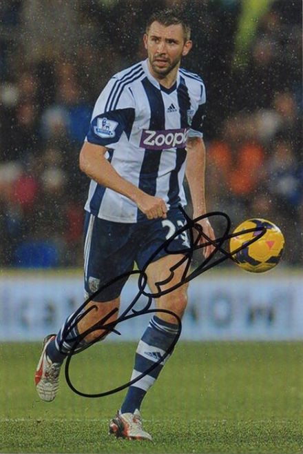 Gareth McAuley, West Brom & Northern Ireland, signed 6x4 inch photo.